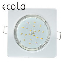 Ecola GX53 H4 Светильник встраиваемый квадратный для ламп GX53 квадрат плоский с открытым краем 106x41