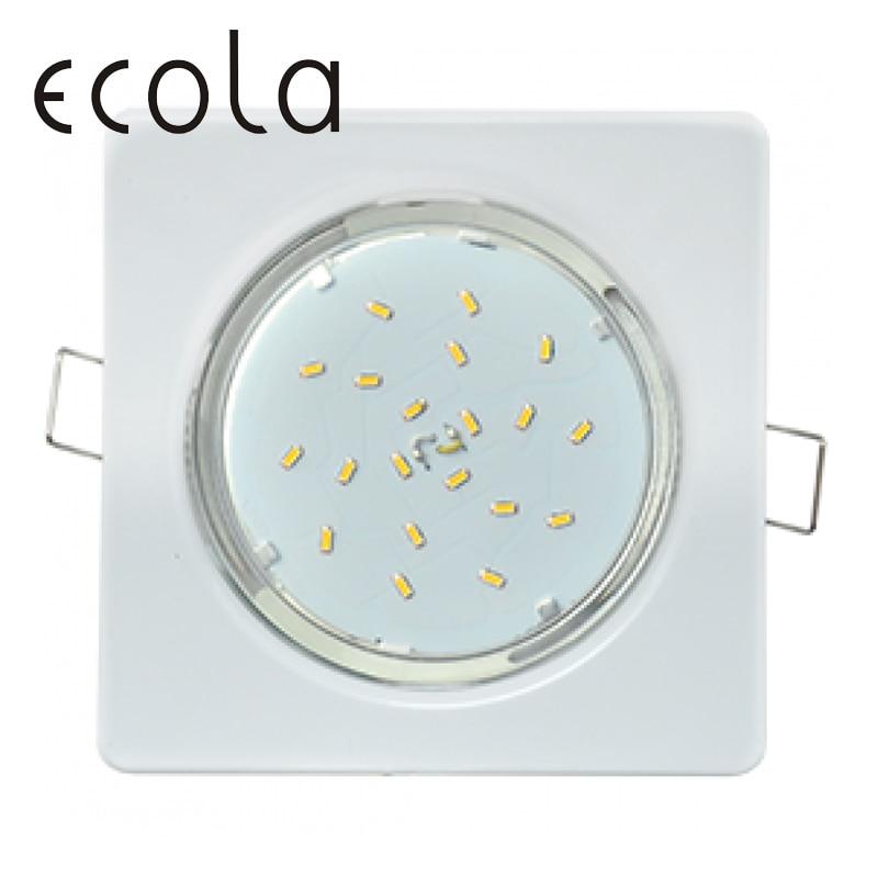 Ecola GX53 H4 Recessed Ceiling Downlight Spotlight Spot Lamp gx53 square flat open edge 106x41 лампочка ecola led gx53 8w tablet 220v 6400k матовое стекло t5md80elc