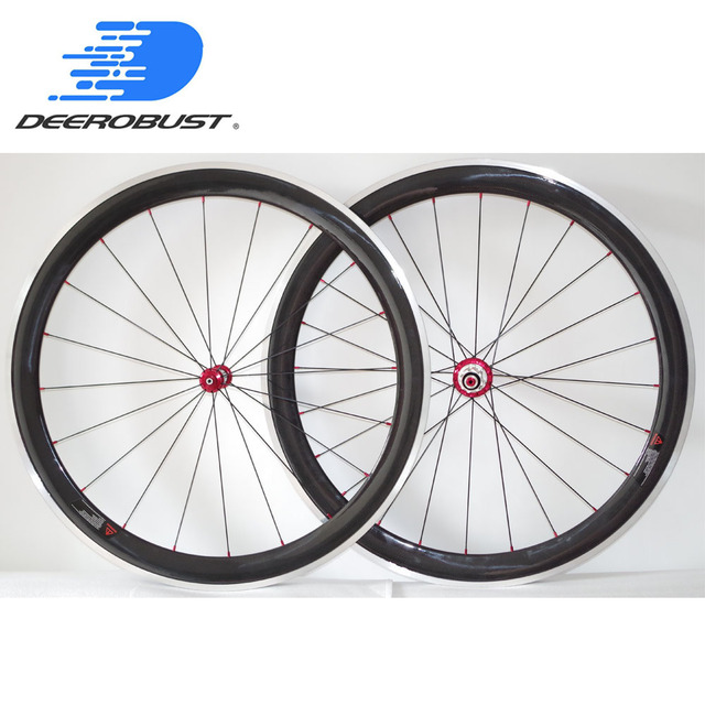 de27455c66f Pro Ceramic 700c 50mm Carbon Clincher Road Bike Wheels Bicycle Wheelset  Bitex Ceramic Hubs Aluminum Alloy