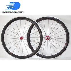 Pro Ceramic 700c 50mm klin węglowy rower szosowy koła rowerowe koła Bitex ceramiczne piasty ze stopu aluminium ze stopu aluminium hamulca utwór 20 24 otwór|bicycle wheelset|50mm carbon clincherroad bike wheels -