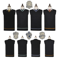Harri Potter Sweater Gryffindor V Neck Harry Slytherin Sweater Waistcoat Black All Match Daily Clothes Cosplay