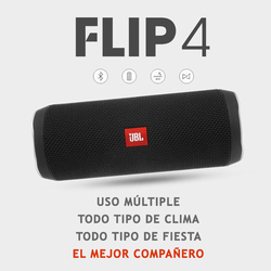 JBL Flip 4 Powerful Bluetooth Speaker, Mini Portable, Wireless, Waterproof BT Speaker with Bass and Stereo Music Perfect Travel