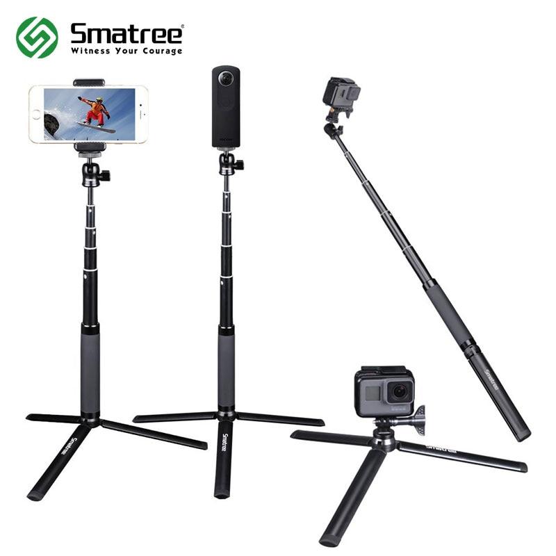 Smatree SQ2 Télescopique De Poche Monopode Selfie Bâton pour GoPro Hero 7/6/5/Session/Gopro Fusion hero (2018) /Yi Camera action