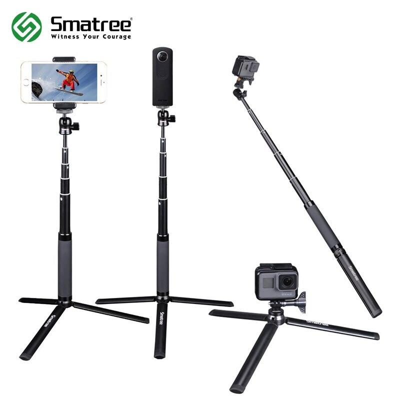 Smatree SQ2 Telescópica Handheld Vara Selfie Monopé com Tripé para GoPro Hero 6/5/Sessão, para Yi action Camera