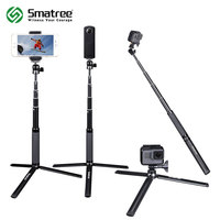 Smatree SmaPole SQ2 Telescoping Selfie Stick With Tripod Stand For GoPro Hero 5 4 3 3