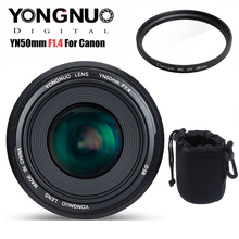 YONGNUO YN50mm 50mm F1.4 standart Prime Lens büyük diyafram otomatik odak canon lensi EOS 6D 70D 5D2 5D3 600D 60D DSLR kamera