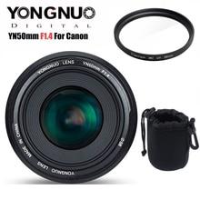 Yongnuo yn50mm 50mm f1.4 lente prime, lente de auto foco com grande abertura para canon eos 6d 70d 5d2 5d3 câmera dslr 600d 60d