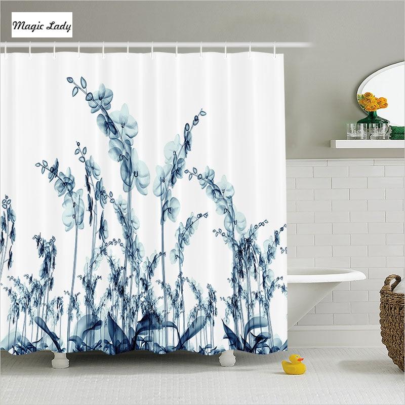 Shower curtain flower bathroom accessories modern for Floral bathroom accessories