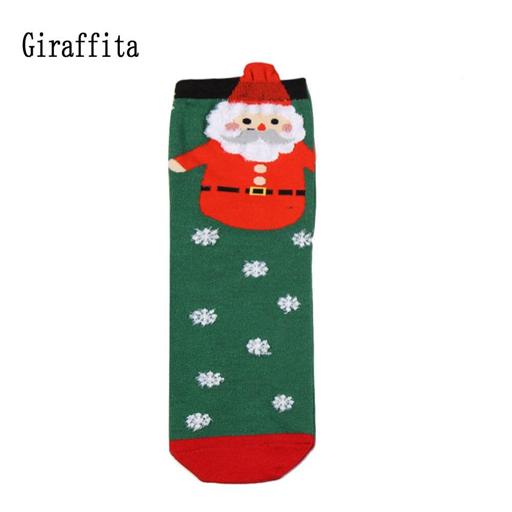 Unisex Sport Socks Winter Skate Socks Christmas Gift Socks Snowflake Santa Cotton Sock for Outdoor Sport