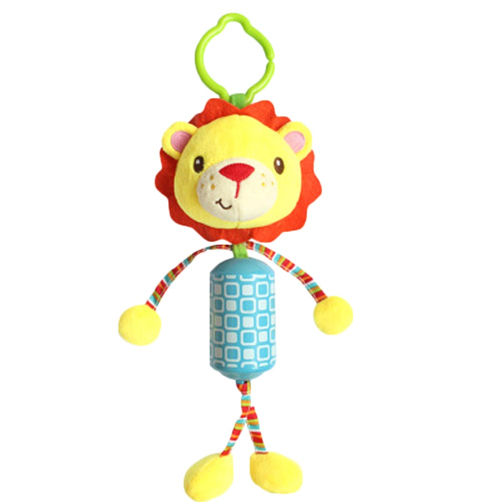 Lovely Baby Stroller Hanging Toys Plush Animal Lion Monkey Wind Chimes Campanula Baby Rattles Mobile Musical Classic Toys Gifts
