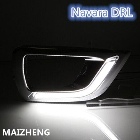 DRL For Nissan NP300 Navara (D23)  2014-2017/ Car Daytime Running Light / Car Styling Day Driving Lamp купить бампер nissan almera n16