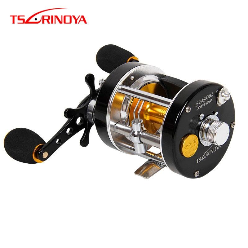 TSURINOYA Drum Fishing Reel Sea Soul TR500 Saltwater Boat Trolling Casting Fishing Reel Full Metal Right Hand Drum Wheel 8+1BB