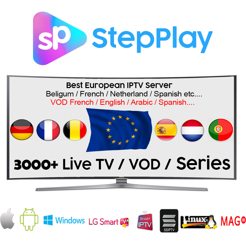 US $19 0  3Months/6Months/1Year StepPlay IPTV Channels Player Support  M3u/Android/Mag/etc  with 3000+ Channels Live TV French Arabic Italy-in  Set-top