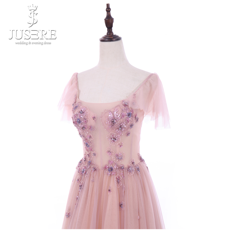 Jusere A-Line V-Neck Sleeveless Long Prom Dress 2018 With Lace Appliques  Pleat Formal Evening GownsUSD 699.00-769.00 piece. 6 2 4 1 3 5 c3684dd251cf
