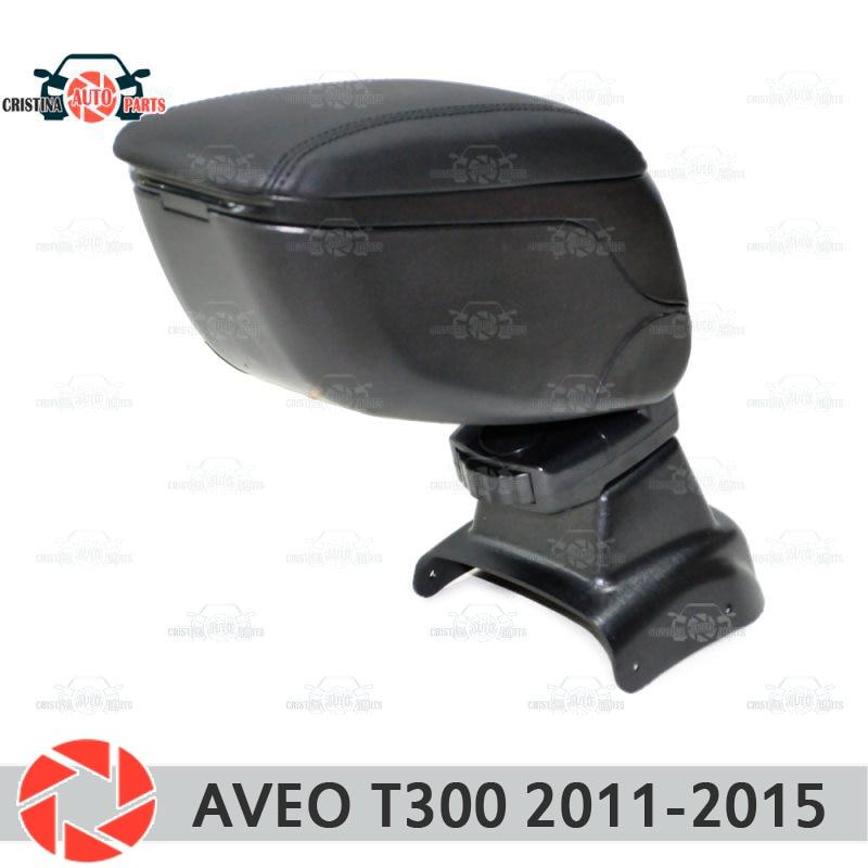 купить For Chevrolet Aveo T300 2011-2015 car armrest central console leather storage box ashtray accessories car styling по цене 1990 рублей