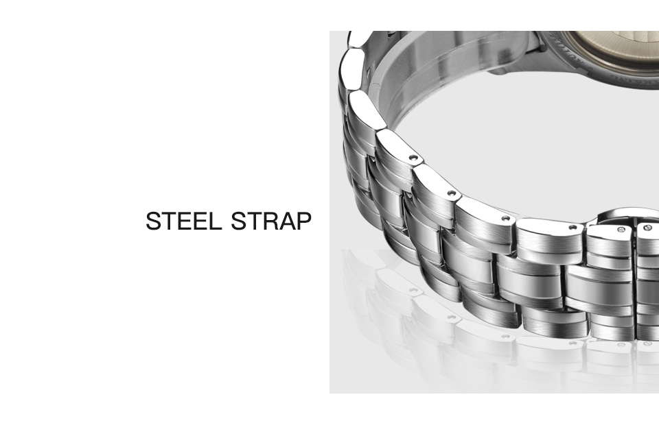UTB849i6MMQydeJk43PUq6AyQpXa2 STARKING Mens Clock Automatic Mechanical Watch All Stainless Steel Simple Business Male Watch xfcs Luxury Brand Dress WristWatch