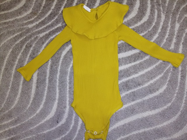Baby Girl's Knitted Long Sleeve Bodysuit photo review