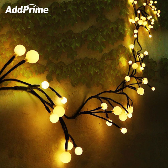 2 5m 70 Rattan Branches Led Garland String Light Waterproof Mini Ball Fireer Fairy Lights For Christmas New Year Decoration