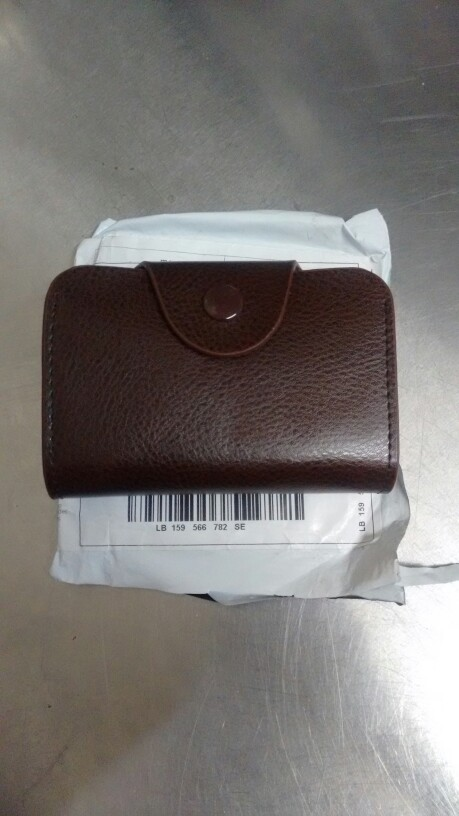 Echt lederen beveiligde ruime leuke creditcard portemonnee kleine portemonnee photo review