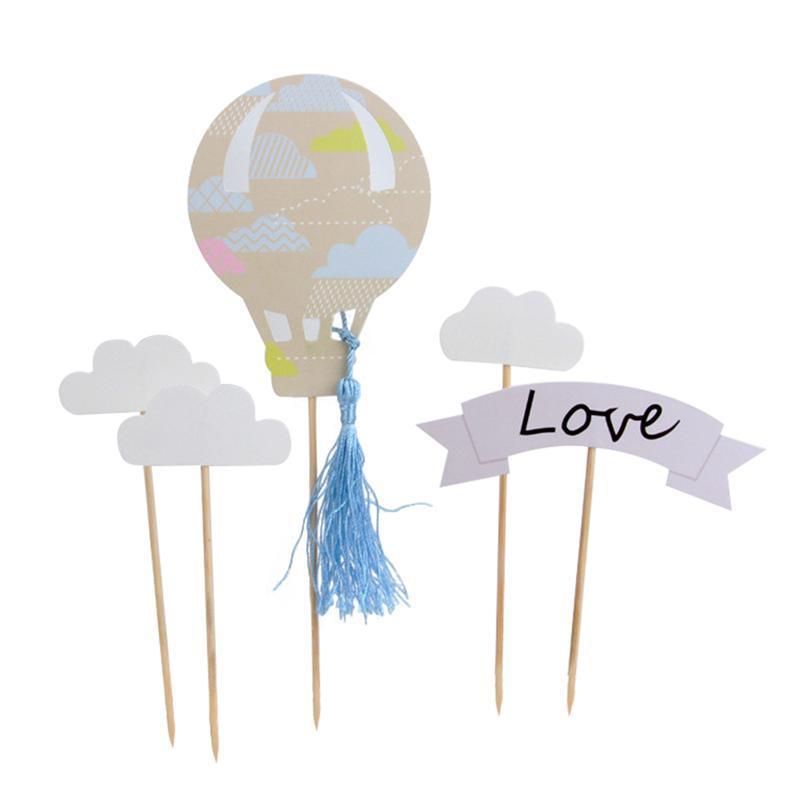 Creativo extraíble globo de aire caliente y la sonrisa etiqueta de ...