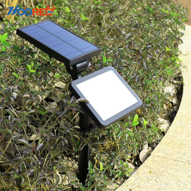 HOOREE 16 LED Solar Light Outdoors in LED Solar Lamp for Garden Waterproof IP65 Wall Lamp Bright Adjustable Dual Use Solar Panel