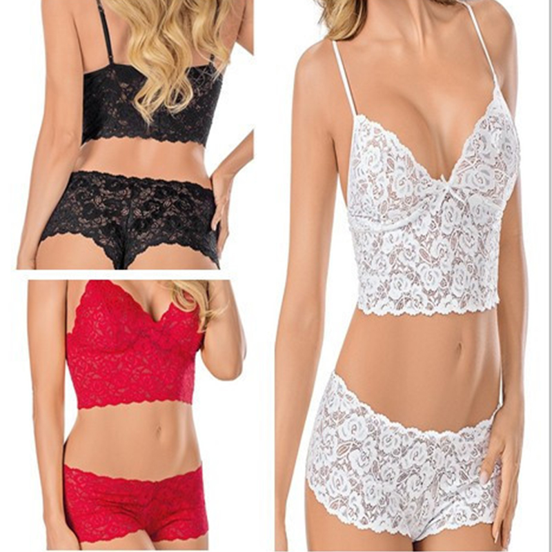 2018 Women Transparent Intimate Lingerie Bralette   Bra     Set   Underwear Panty Lace   Set   lingerie Underwear Female   Bras     Brief     Set
