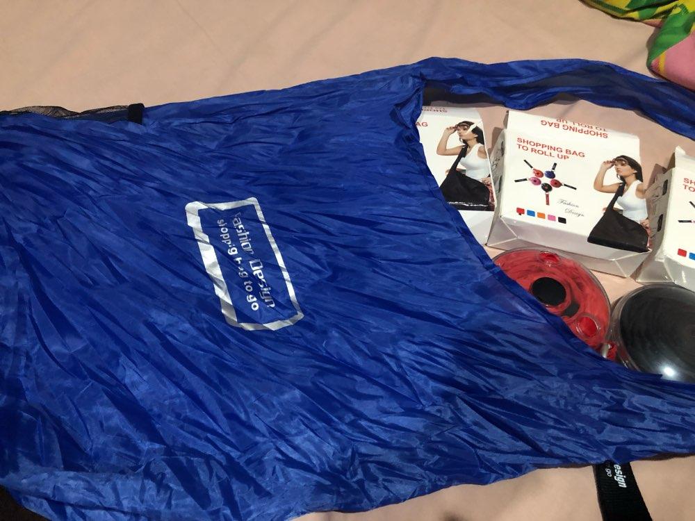 Fashion Creative Foldable ECO Grocery Bag Folding Shopping Organizer Eco Storage Reusable Shoulder Bag Large Capacity Handle Bag photo review