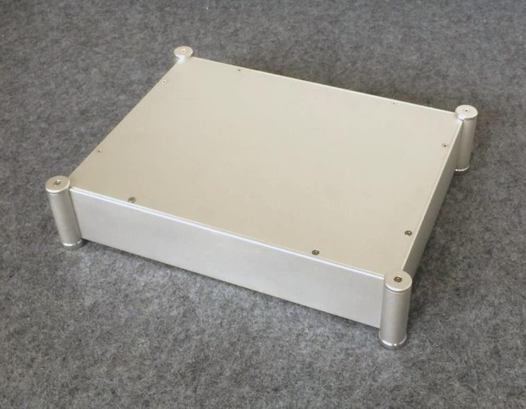 BZ4308C All Aluminum Silver Rounded Case Audio Amplifier Chassis DIY Enclosure Tube Amp Box Shell wa72 aluminum chassis enclosure box case shell for audio amplifier 270x360x86mm