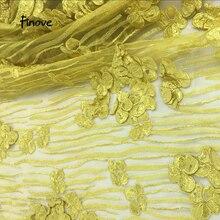 Новое поступление, 3D вышивка, цветы, тюль, ткань для свадебного платья, вечерние платья высокого качества