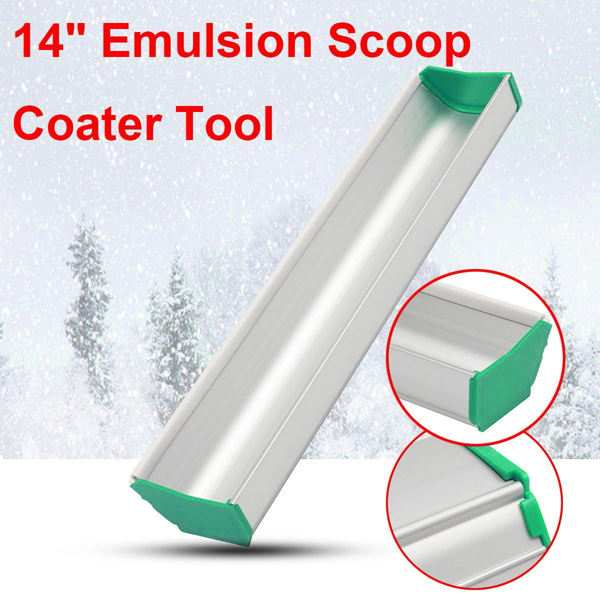 14 inch Emulsion Scoop Coater Silk Screen Printing Press Frame Aluminum Alloy Photo Tool Corrosion Resistance New цена 2017