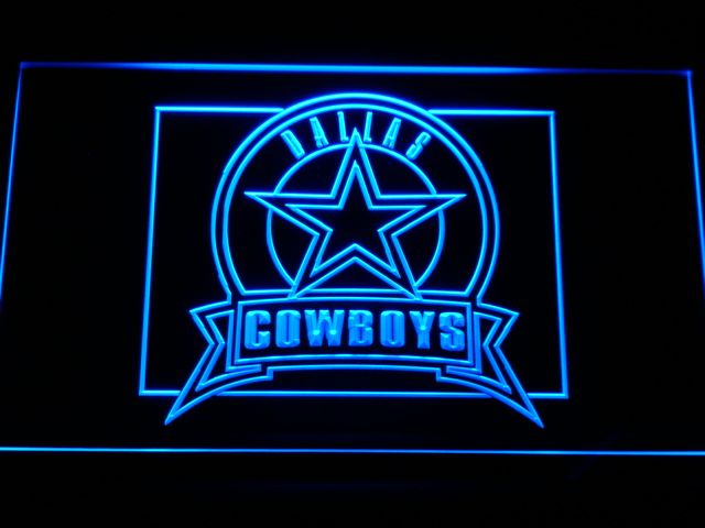b483 Dallas Cowboys Badge LED Neon Sign with On Off Switch 7 Colors 4 Sizes to