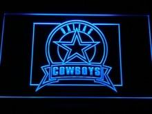 B483 Dallas Cowboys знак неоновый с включения/выключения 7 цветов 4 размеров, чтобы выбрали