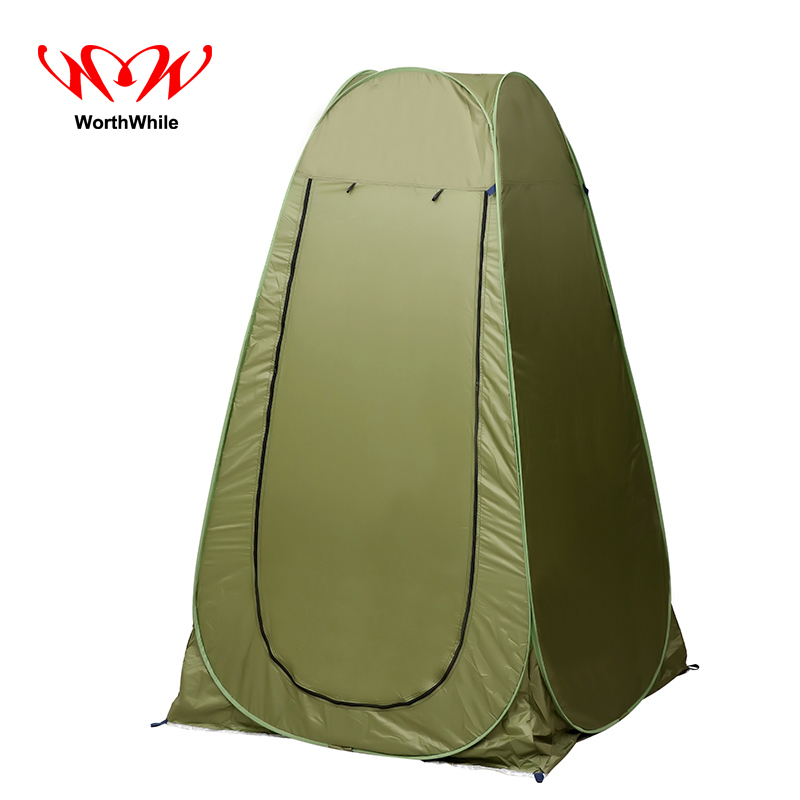WorthWhile Dressing Shower Tent 1-2 Person Ultralight Folding Portable Automatic Also for Outdoor Camping Hiking high quality outdoor 2 person camping tent double layer aluminum rod ultralight tent with snow skirt oneroad windsnow 2 plus