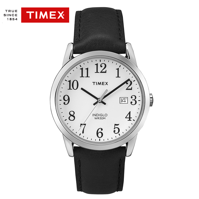 Timex  TW2P756 Mens Watches Quartz EASY READER Leather Band Analog Gold Tone Men's Watch  Indiglo Date Watch