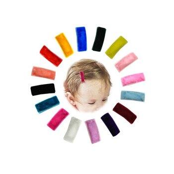 Aksamitne włosy spinka, Mini spinki do włosów zestaw 16 sztuk