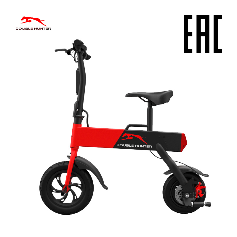 Electric bycicle Double Hunter P12 Smart Folding Electric Bike 12inch Mini Electric Bicycle Ebike 37V Lithium Battery Super Mini
