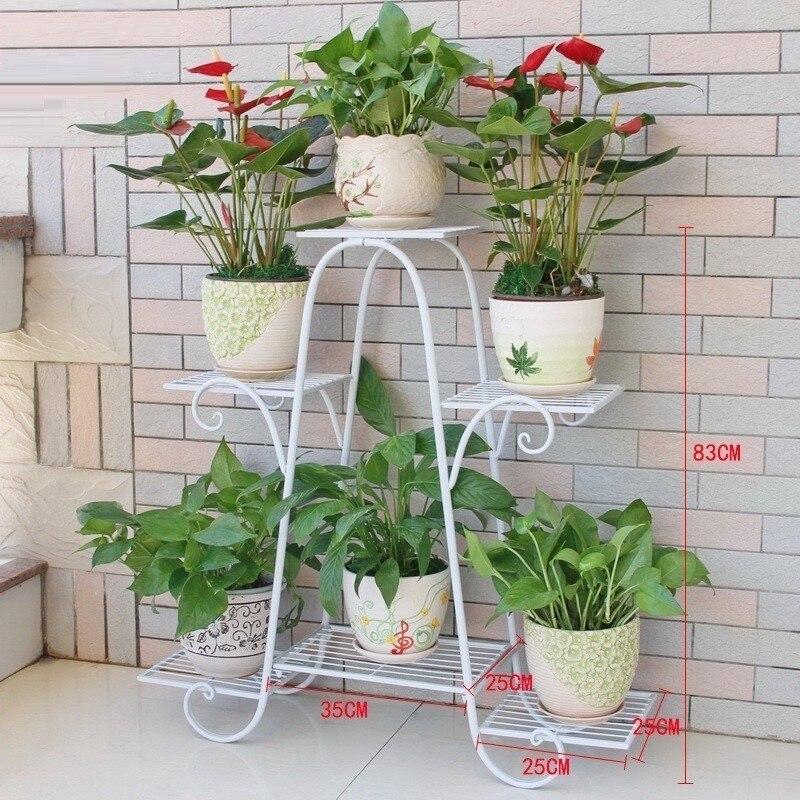 Varanda planten rek decoration terrasse rack metal raflar balcony ...