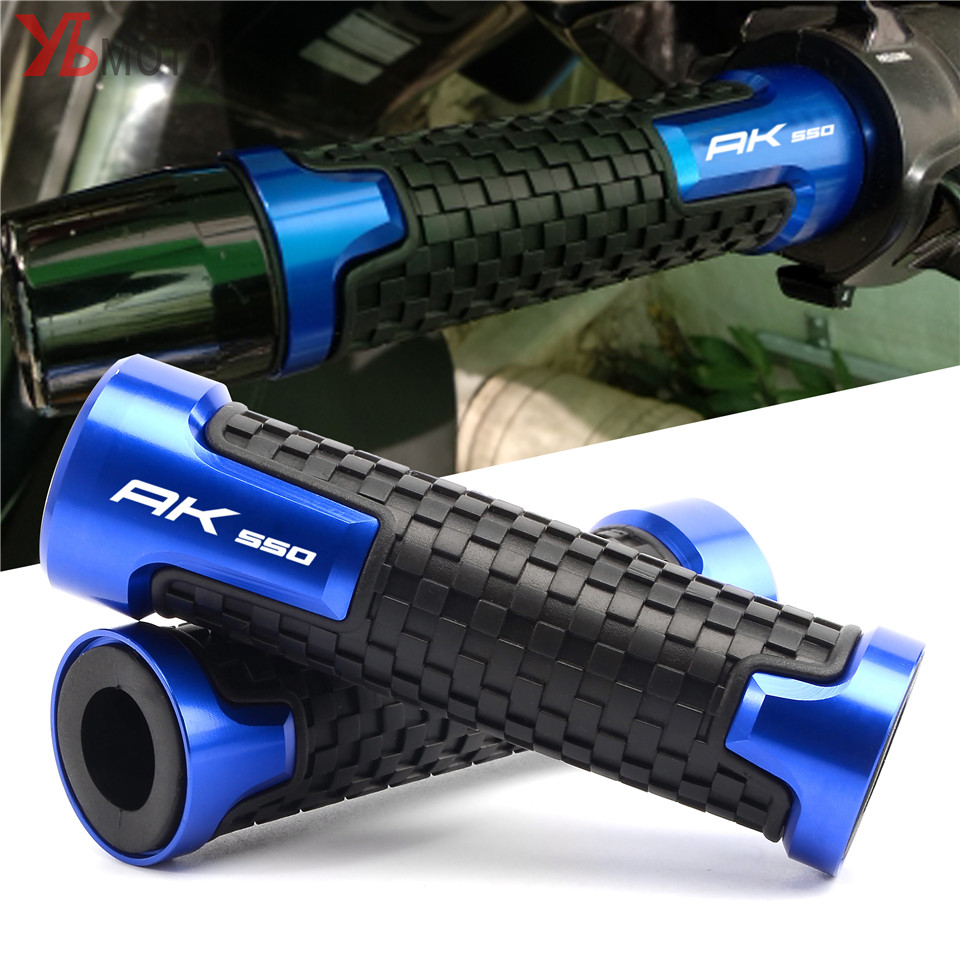 High-quality Motorcycle Knobs Anti-Skid Scooter Handle Grips Cnc 22mm Bar Hand Handlebar Grip For KYMCO AK550 AK 2017 2018 Cover