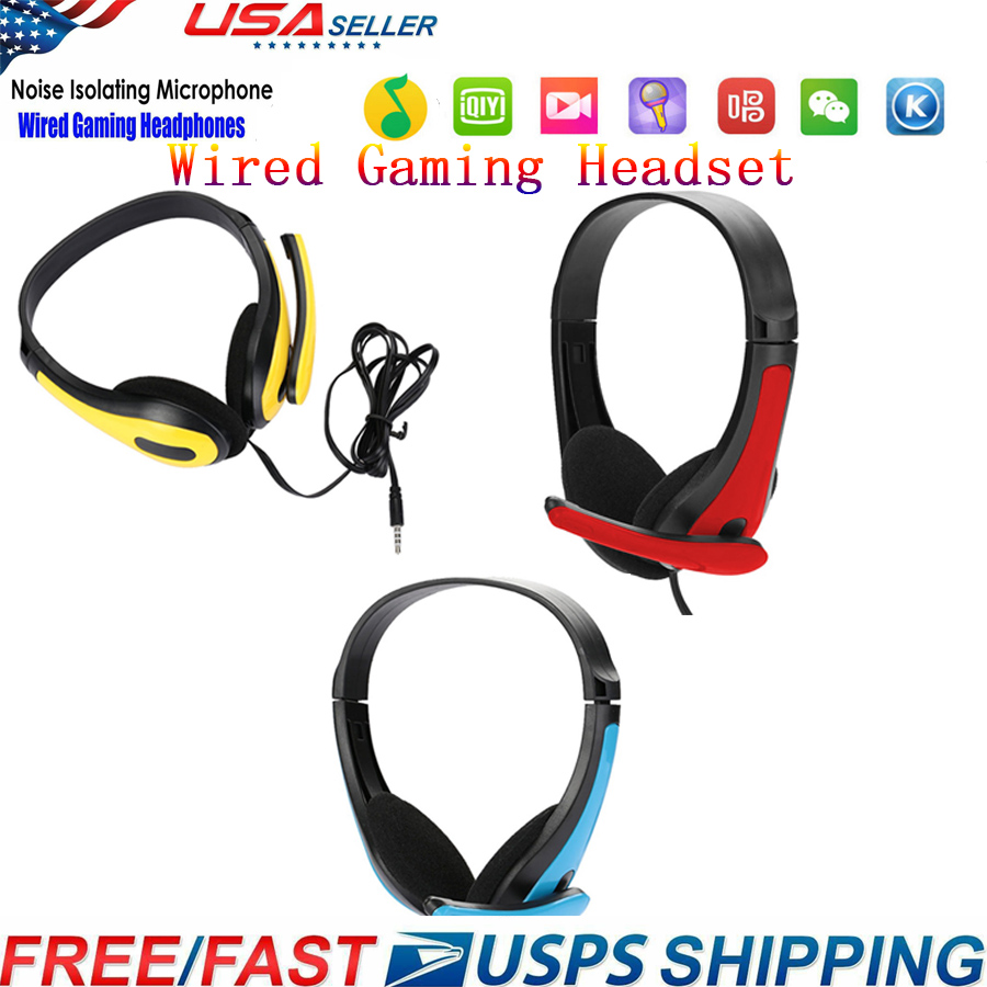 SIFREE3.5mm Wired Earphone Deep Bass Sound Headset Stereo Professional Computer Gamer Headphone  With HD Microphone For Computer