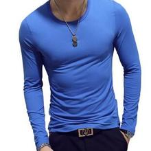 ECTTC 2019 Autumn Winter men new casual cotton elasticed long sleeve T-