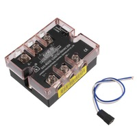 UXCELL 4 32VDC to 40 530VAC 25A Three Phase Solid State Relay Module DC To AC Electrical Equipment Power Supplies SA34025D