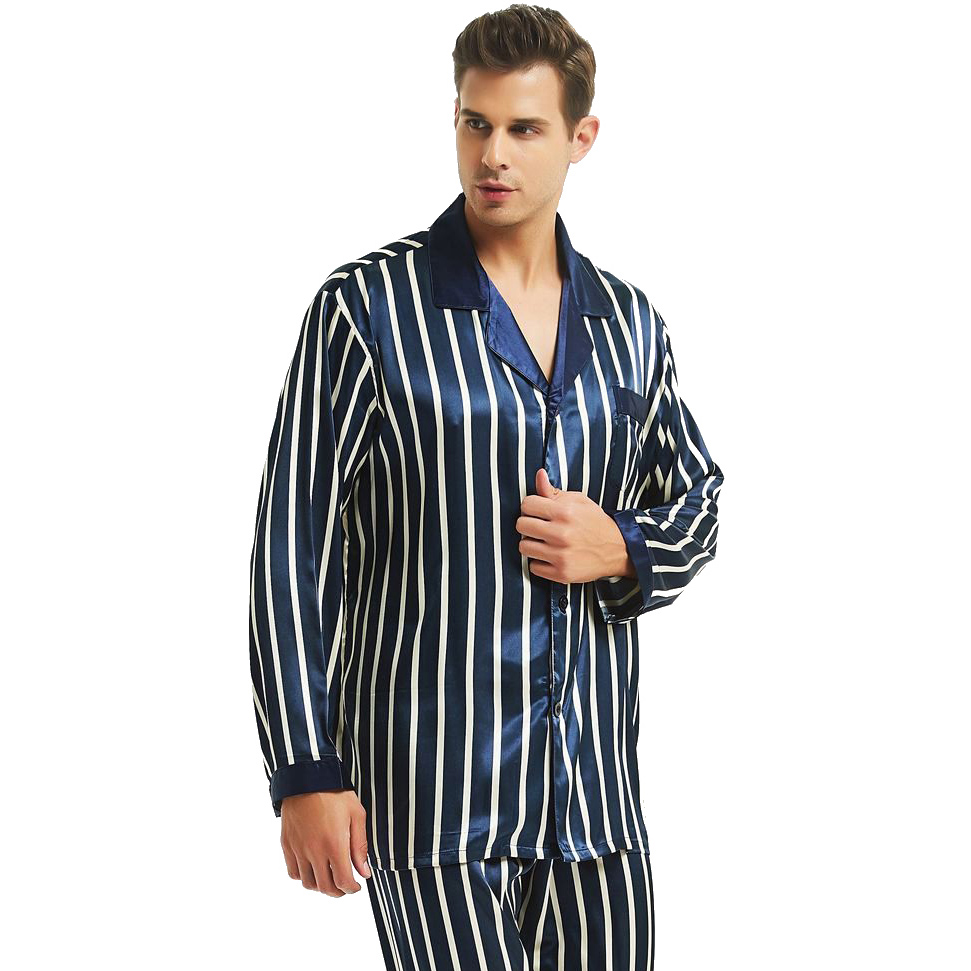 Mens Silk Satin Pajamas Set  Pajama Pyjamas PJS Set  Sleepwear  Loungewear  S,M,L,XL,2XL,3XL,4XL  Plus