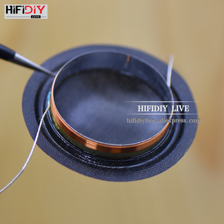 HIFIDIY LIVE 1 Inch 25.4mm 25.5mm Tweeter Voice Coil Black Silk Membrane Treble Speaker Repair Accessories 8ohm 15W DIY Parts