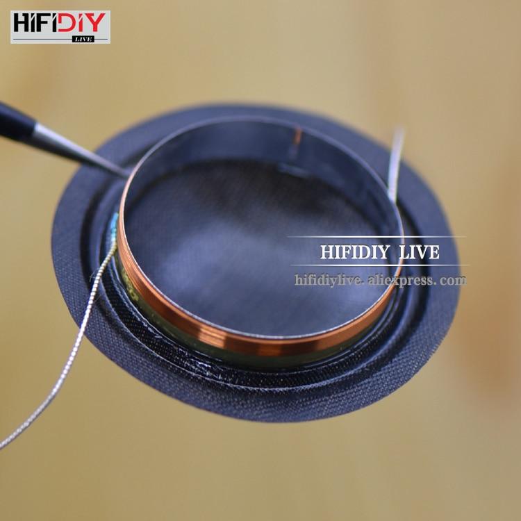 HIFIDIY LIVE 1 Inch 25.4mm 25.5mm Tweeter Voice Coil Black Silk Membrane Treble Speaker Repair Accessories 8ohm 15W DIY Parts