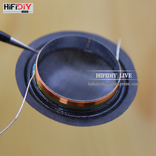 HIFIDIY LIVE 1 inch  25.4mm 25.5mm Tweeters Voice Coil black Silk Membrane Treble Speaker Repair accessories 8ohm 15W DIY Parts hifidiy live hifi 5 98 inch 6 midbass woofer speaker unit 8ohm 80w casting aluminum fram bullet proof cloth loudspeaker f5 152