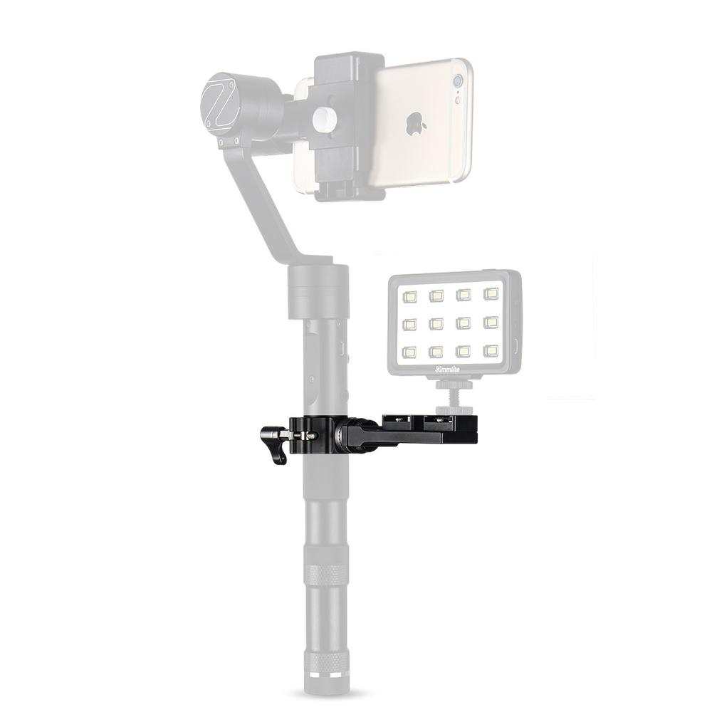 Universal Mount Used to Microphone or Flashlight for Gimbal Stabilizers such as Feiyu G4 G4S G4-QD Zhiyun Z1-Smooth-C