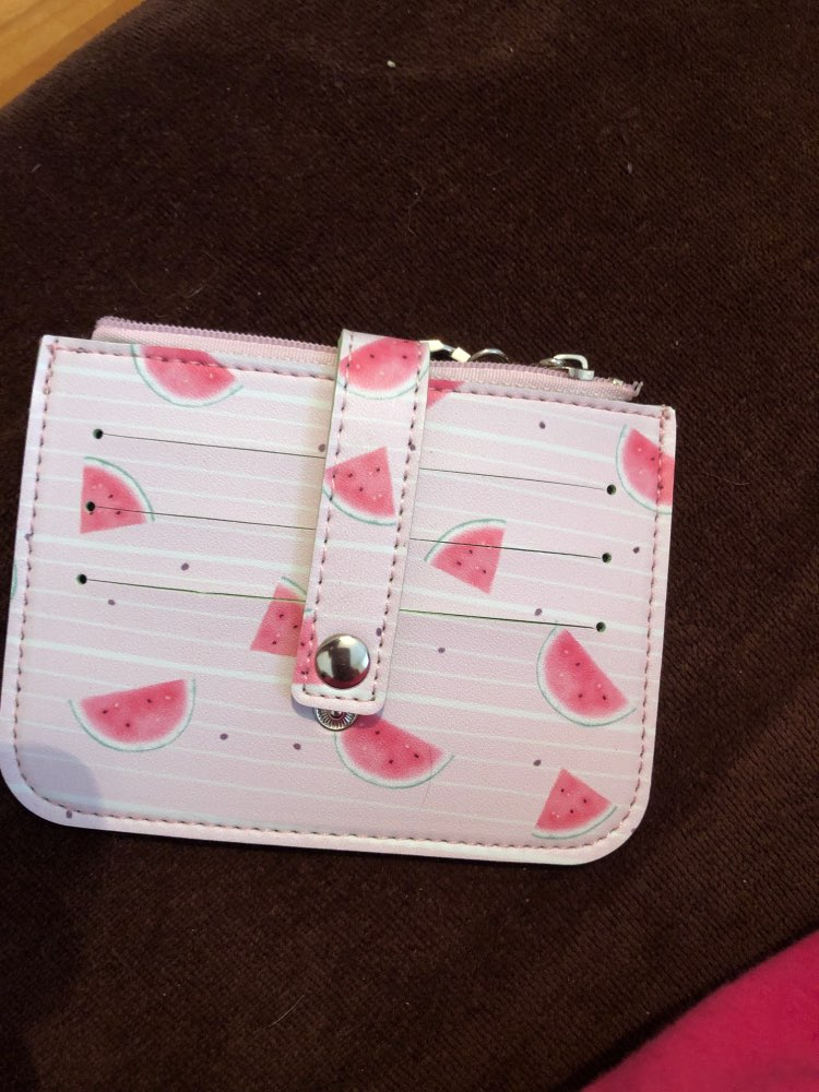 Katuner New Fresh Fruit Series 6Bits Women Card Holder Mini Wallet For Credit Cards Girls Coin Bag Students Card Protector KB035 photo review