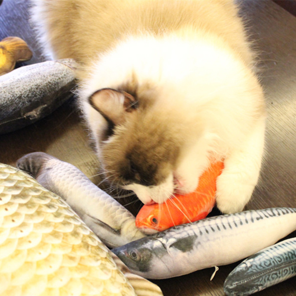 Pet Toy Cute Cat Mint Stuffed Fish
