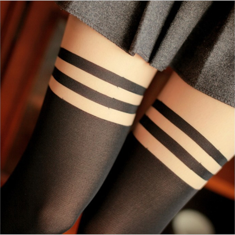 Buy striped patchwork women tights vintage school girls pantyhose sexy women summer Hosiery Stockings collants femme motifs