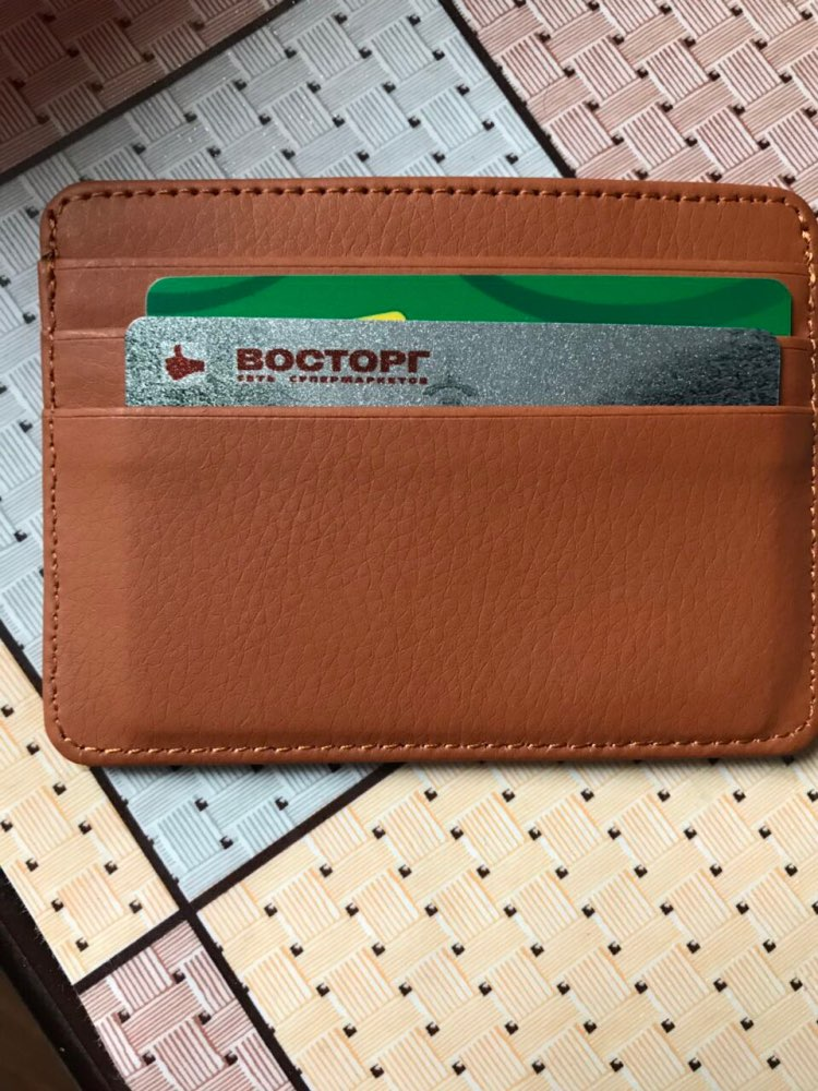 KUDIAN BEAR Leather Slim Men Credit Card Holder Brand Designer Card Organizer Male Wallets Purses tarjetero hombre BIH062 PM49 photo review